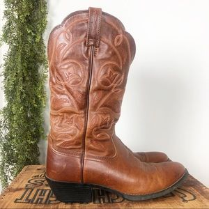 Ariat | Round Toe Leather Western Cowboy Boot